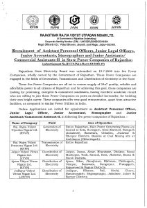 Electricity board rajasthan recruitment 2018