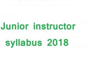 Junior instructor syllabus 2018 RSMSSB