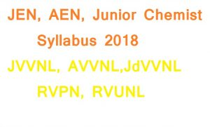 JVVNL JEN AEN Junior chemist syllabus